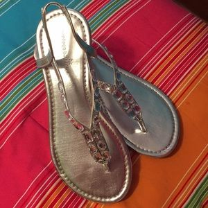 Silver Sandals